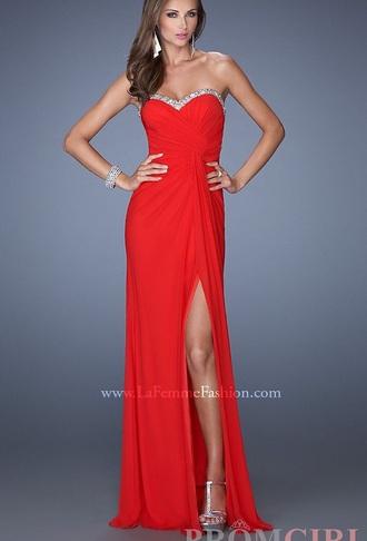 dress long strapless open back prom dress sweetheart neckline chiffon dress