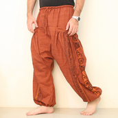 pants,elastic bottom,tight ankles,esiamcenter,mens harem pants