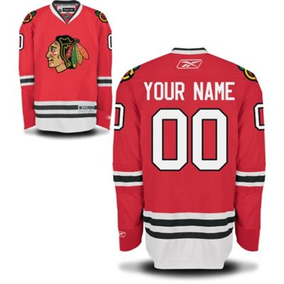 Reebok Chicago Blackhawks Men's Premier Home Custom Jersey - Red