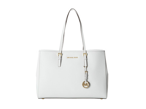 MICHAEL Michael Kors Jet Set Large Travel E/W Tote Optic White - Zappos.com Free Shipping BOTH Ways