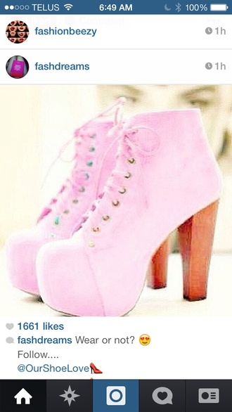 shoes pastel pink chuncky pretty heels