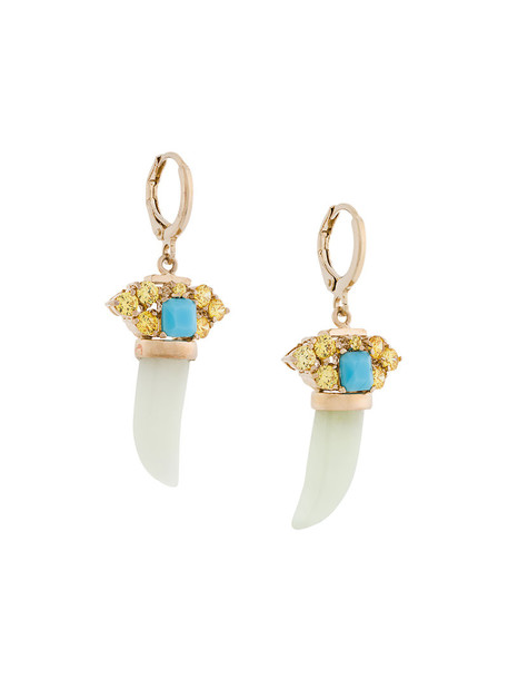 IOSSELLIANI women earrings gold grey metallic jewels