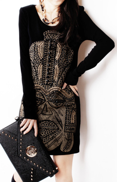 dress patterned dress