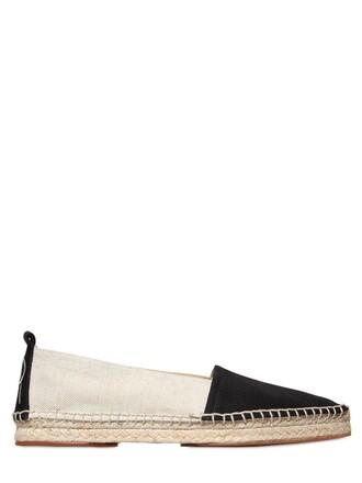 espadrilles cotton black beige shoes