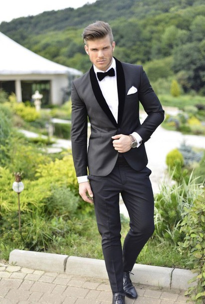 White And Black Prom Suit - Ocodea.com