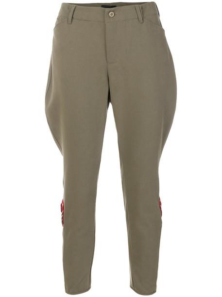 Lédition pants women cotton wool green