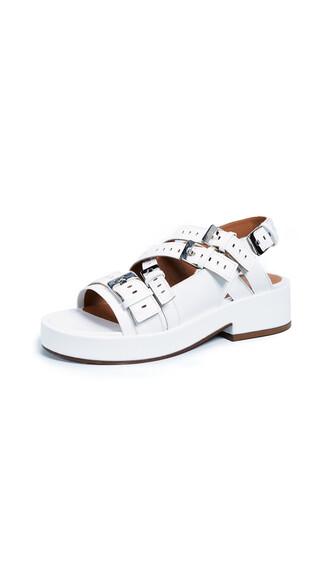 sandals white shoes
