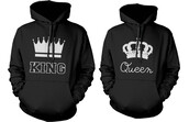 sweater,king,queen,matching set,couple,funny,graphic tee,gift ideas,hoodie,matching couples,couple sweaters