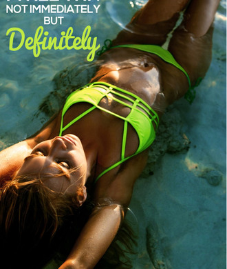 swimwear neon yellow bikini cut-out