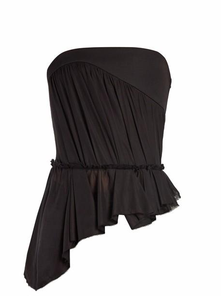 Saint Laurent top strapless top strapless black