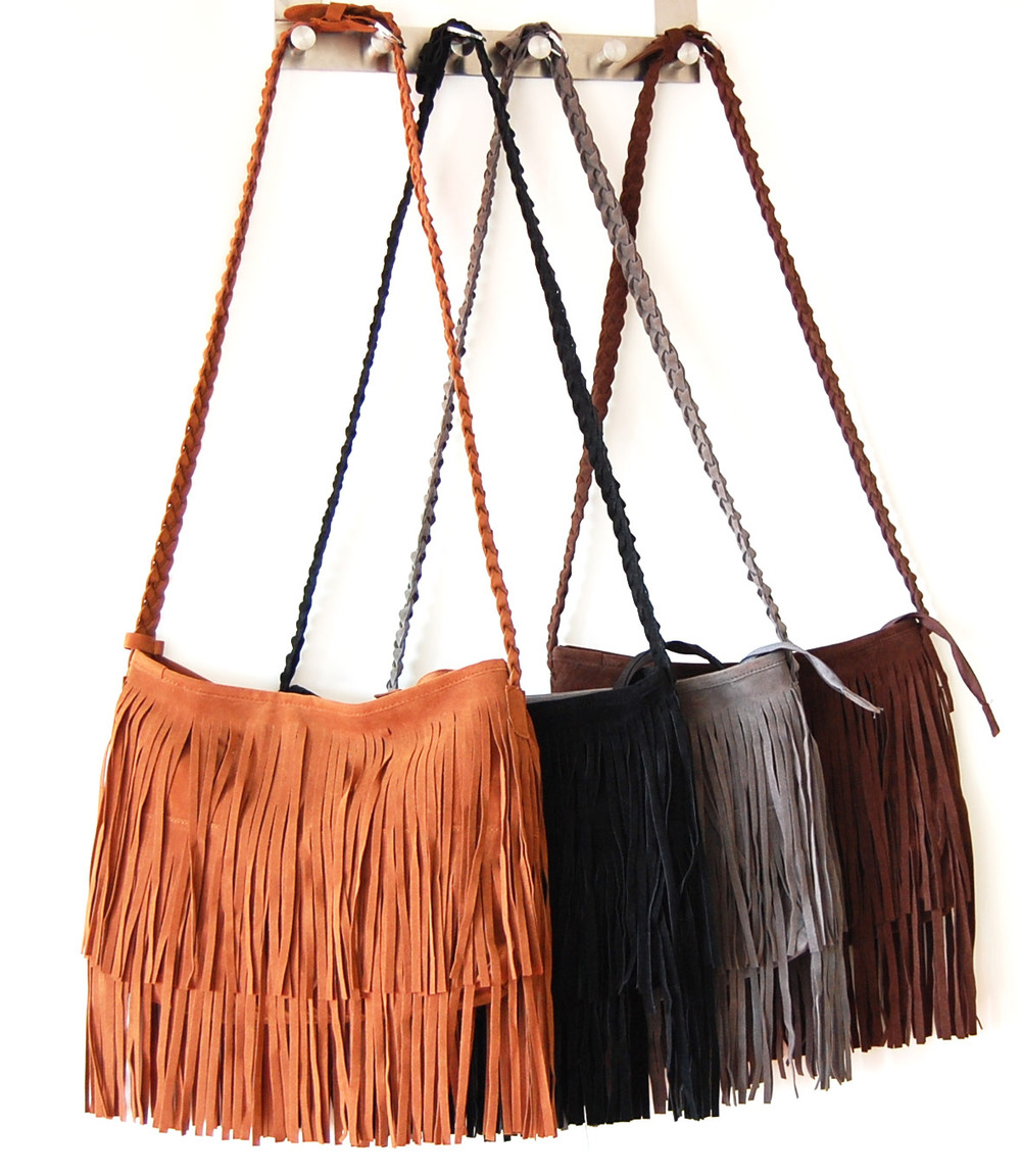 a6e7a7ed0b Free shipping! Hot sale Suede Fringe Tassel Shoulder Bag women s ...
