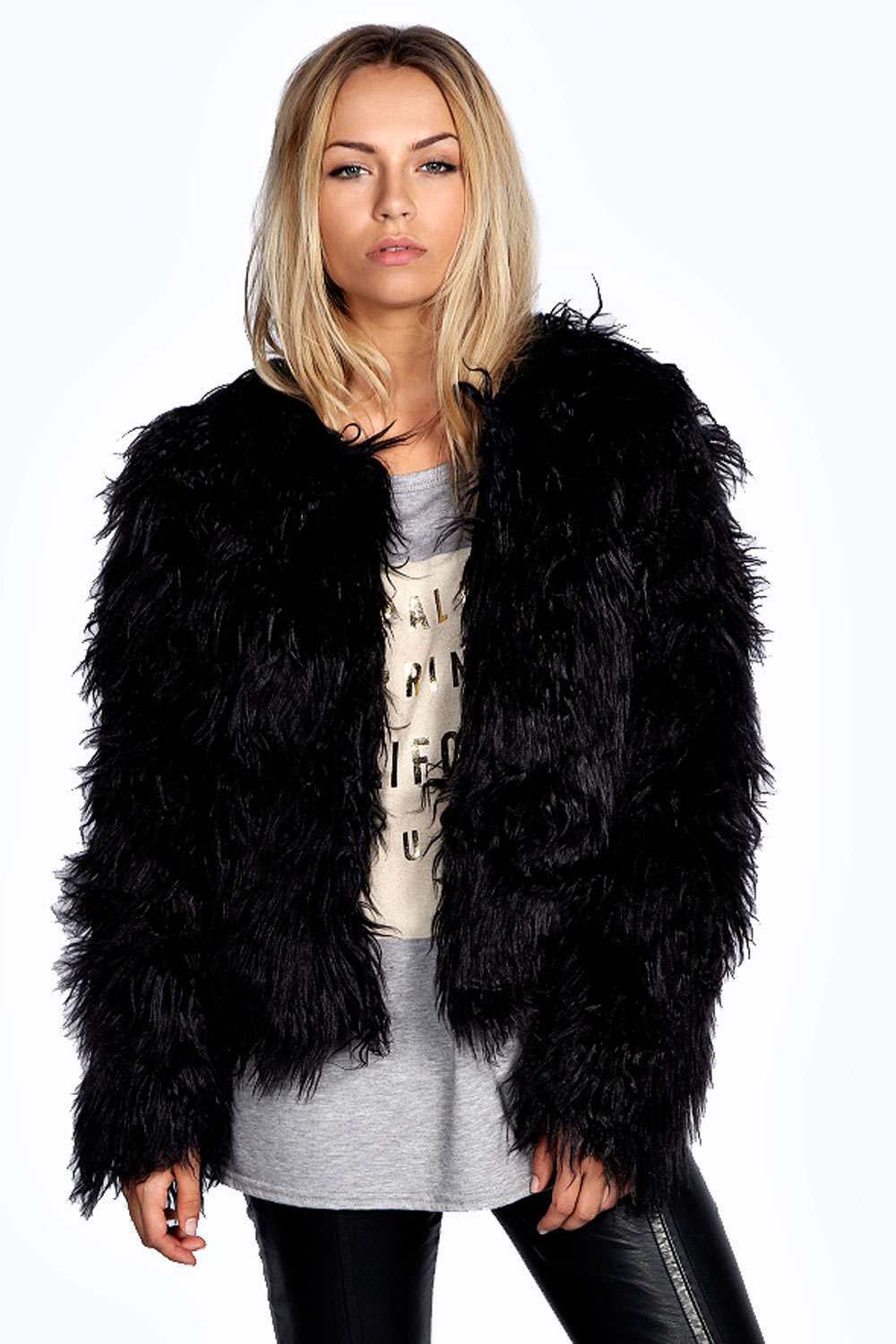 Aimee Shaggy Fur Coat