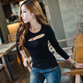 top korean fashion ulzzang clubwear sexy top black top tight top xl top tumblr fall outfits asian fashion sexy fashion