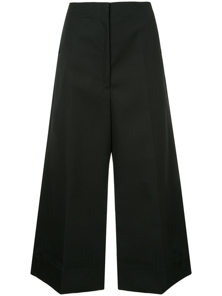 Lemaire culottes high women black wool pants