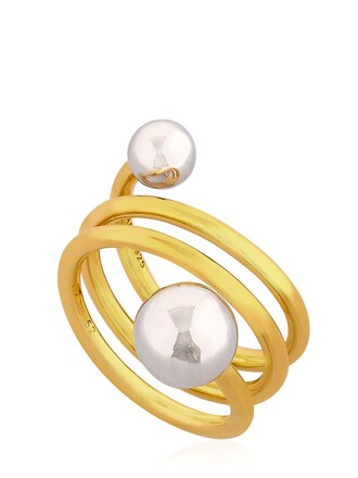 ball ring gold silver jewels