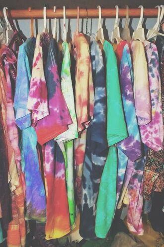 t-shirt grunge grunge clothing tie dye