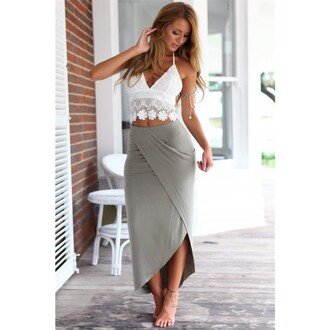 dress white strapless dress white straight cut coat black heels strap lace up lace t-shirts grey skirt white and grey skirt white lace two-piece set