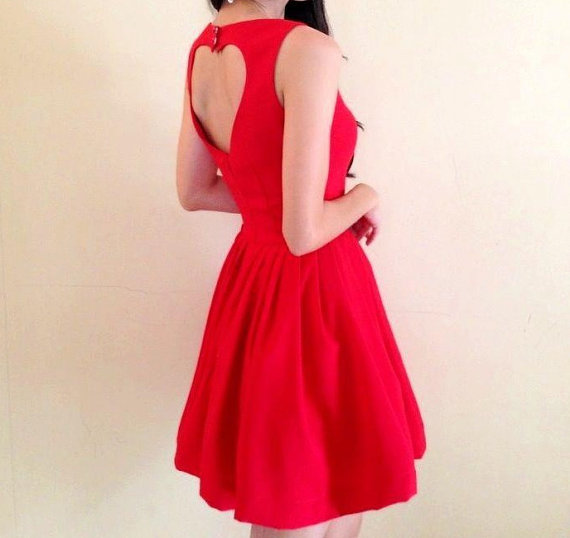 open heart dress made to order in size S M L by rushtar
