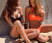 swimwear,bikini,coral,orange