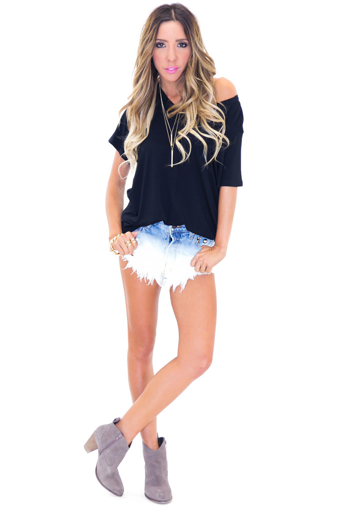 Dyed studded denim shorts | haute & rebellious
