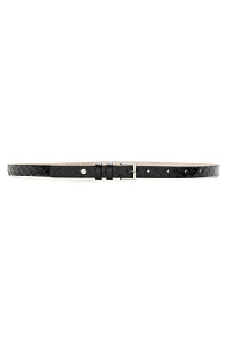 python belt leather black