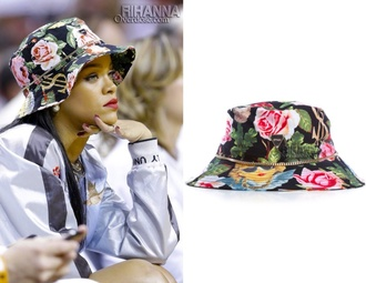 hat rihanna bucket hat beautiful rihanna style floral