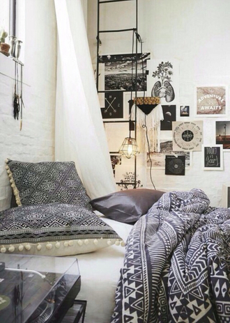 home accessory bedding duvet home decor duvet set optical bedroom grey hipster urban outfitters
