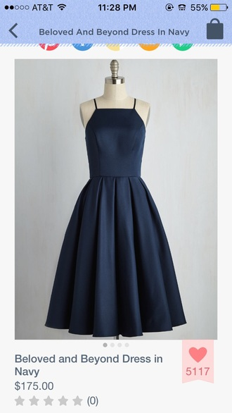 dress halter neck navy dress