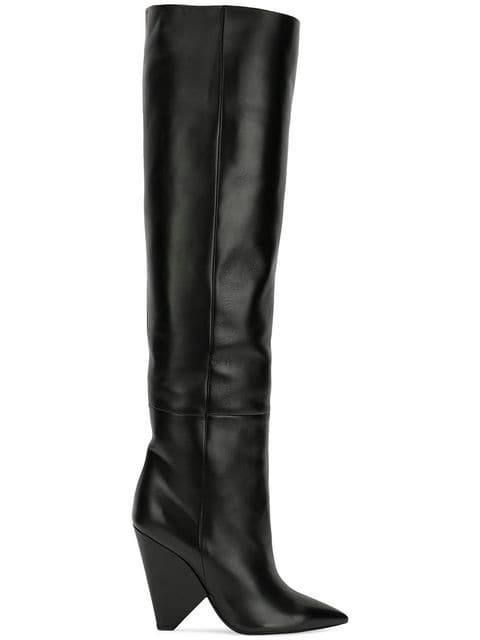 Saint Laurent Niki Wedge Boots - Farfetch