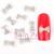 $5.99 10 pcs Silver Bowknot Shape 3D Crystal Stickers Acrylic UV Nail Art - BornPrettyStore.com