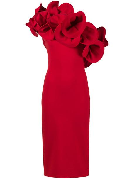Osman dress women spandex cotton red