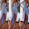 Blue twist asymmetrical draped maxi dress_17.68