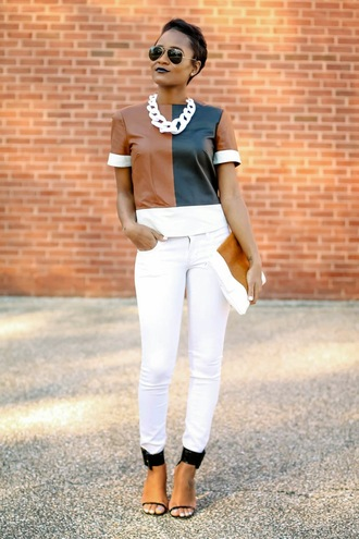 the daileigh t-shirt jeans jewels shoes bag sunglasses