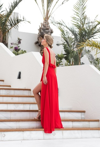 ms treinta blogger dress shoes red dress maxi dress red maxi dress sandals high heel sandals