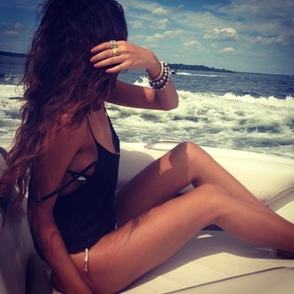 sun bikini tank top beach sexy top strappy boat baddie bad bitches link up hispter kylie jenner