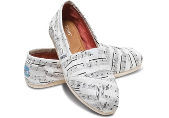 music note staff misc staff toms canvas slip on comfy music note