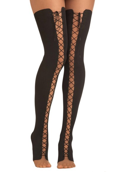 leggings tights tights with laces thigh highs lee chaerin lace up tights black tights