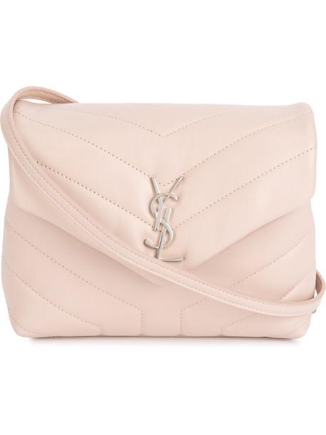 Saint Laurent mini women bag mini bag leather cotton purple pink