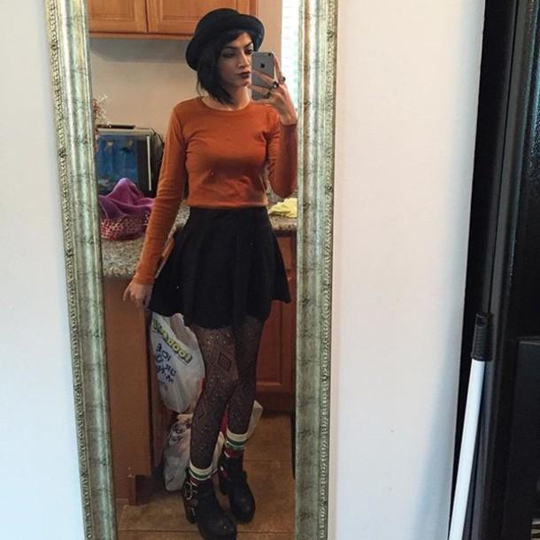 Top fashion orange cute cute outfits tumblr tumblr outfit tumblr girl tumblr clothes ...