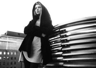 coat batnorton black big hood hoodie