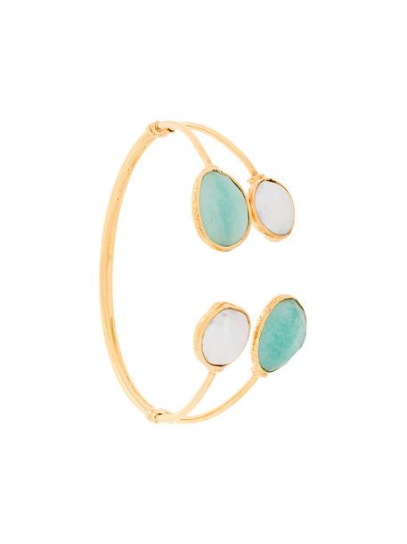 Gas Bijoux women pearl gold blue jewels