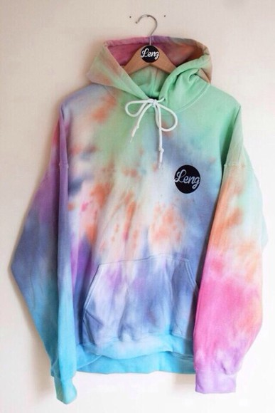 dip dyed leng clothing top tie dye sweater hoodie cute tyedye leng
