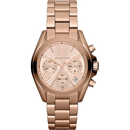 MICHAEL KORS - MK5799 Mini Bradshaw rose gold-plated chronograph watch | Selfridges.com