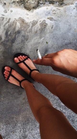 sandals black strappy sandals