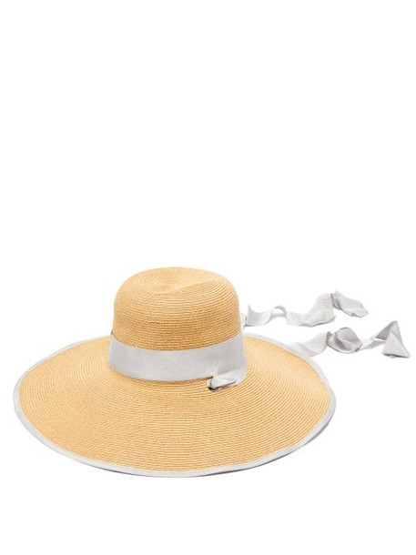 Filù Hats - Arenal Wide Brimmed Straw Hat - Womens - Grey