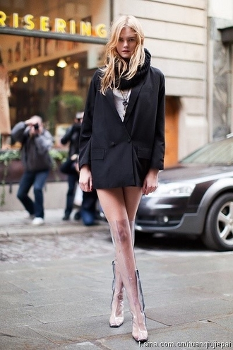 shoes transparent boots transparent shoes transparent boots over the knee boots clear boots clear streetstyle blazer black blazer infinity scarf scarf knitted scarf black scarf