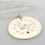 jewels,nadin art design,sterling silver jewelry,personalized jewelry,gift ideas for women,handmade jewelry,zodiac signs,birthday gift