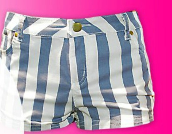 shorts stripes shorts blue stripes white blue and white striped