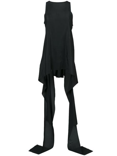Maticevski - draped tank top - women - Silk - 6, Black, Silk