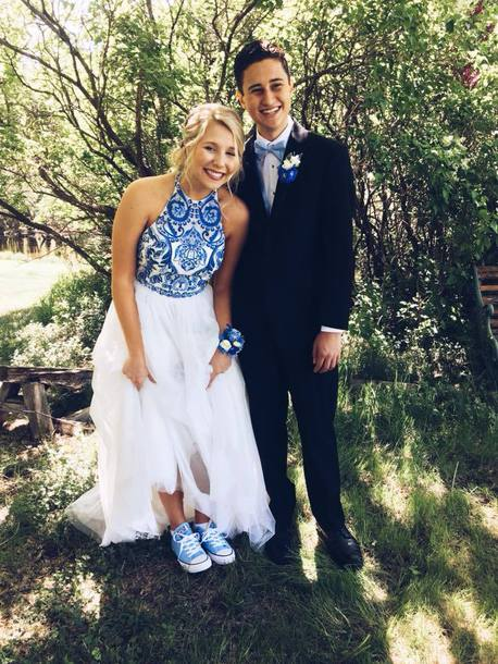 dress sherri hill prom dress blue white blue dress white dress homecoming dress